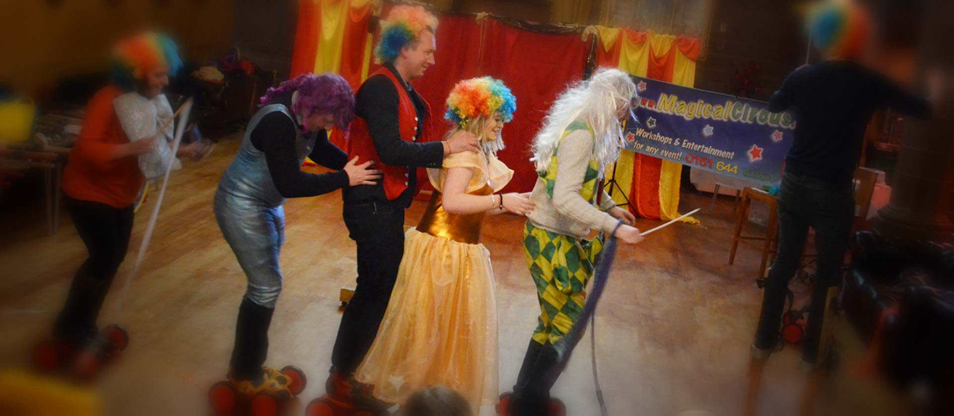 Magical Circus corporate team building events.