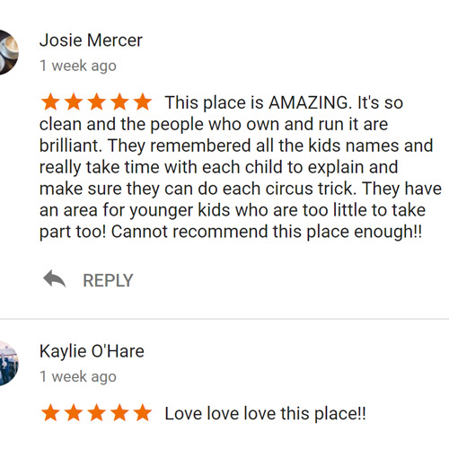 5 stars reviews for Magical Circus, Birkenhead