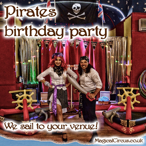 Pirates children's birthday parties