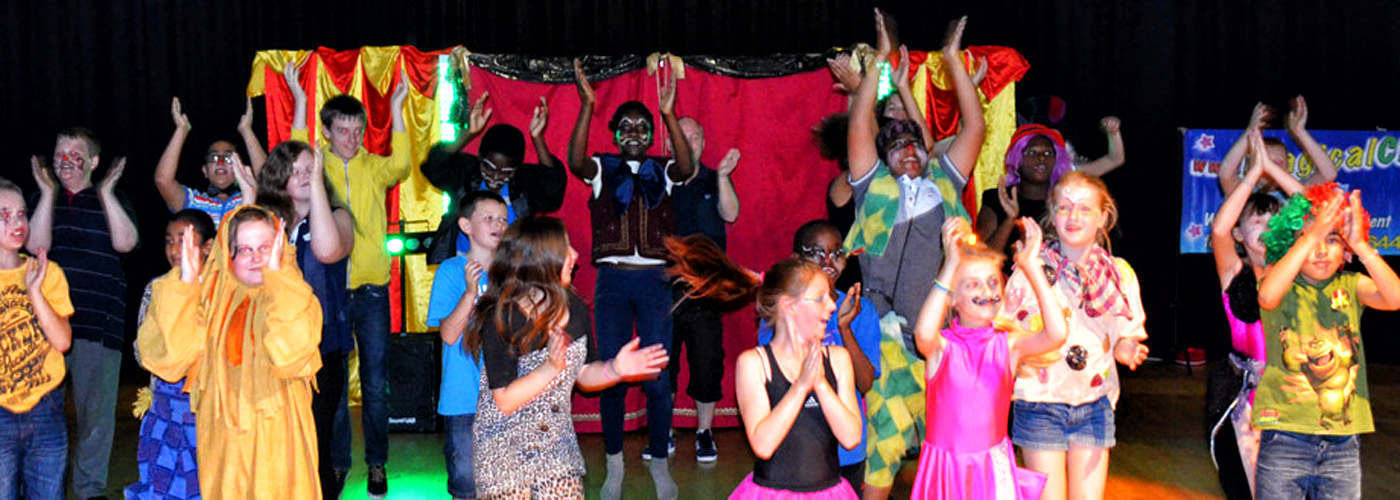 Circus Skills show demosntration by school children.